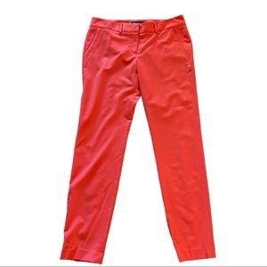 Pink Tartan Red Wool Blend Dress Pants Size 8